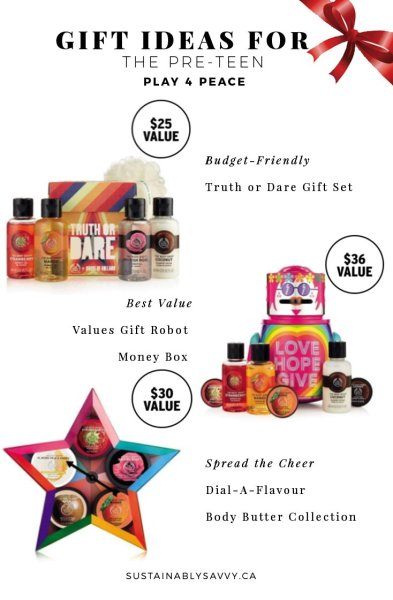 Pre-Teen Gift Ideas the Body Shop