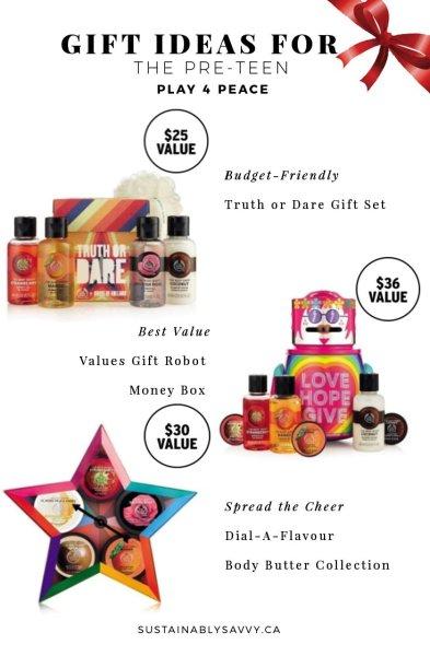 Pre-Teen Gift Ideas the Body Shop