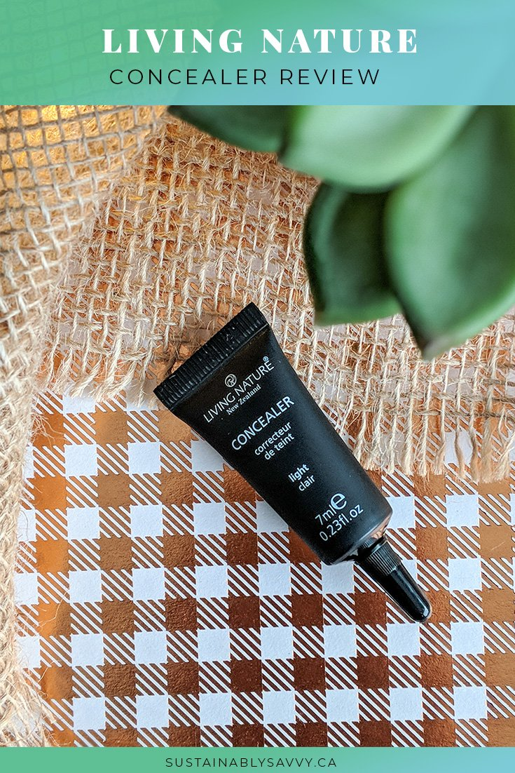 LIVING NATURE CONCEALER REVIEW PINTEREST