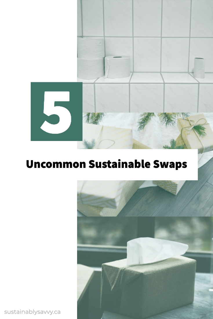 5 uncommon sustainable swaps pinterest graphic kleenex gift and toilet paper