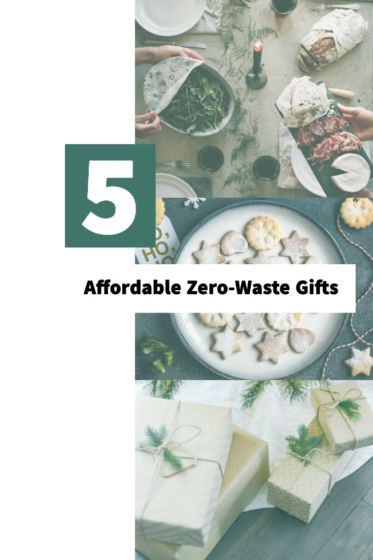 Pinterest Pin for 5 Zero Waste Gift Post