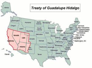 Land Acquired in Treaty of Guadalupe Hidalgo fraukewilkening.wordpress.com