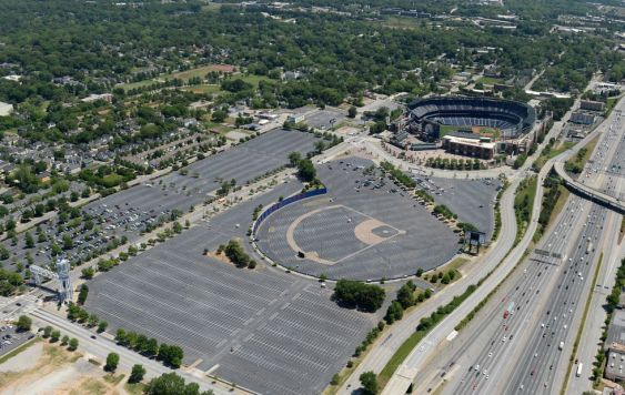 Turner Field Parking Lot. This is a huge waste of land. ajc.com