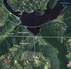 Tennessee River Satellite appalachianhistory.net