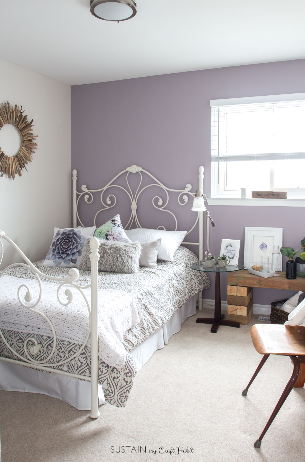 Mauve Lous Guest Bedroom Ideas A Simple Spare Room