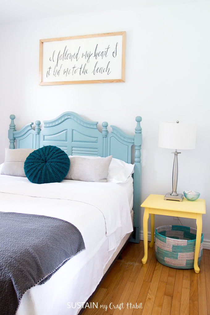 Beach Themed Bedrooms Lakeside Room Reveal Sustain My Craft Habit