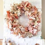 Diy Metallic Fall Leaf Wreath Sustain My Craft Habit