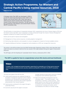 Cover page of fact sheet on strategic action programme to protect tuna and local livelihoods Western and Central Pacific Ocean