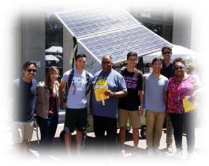 The UCSD Staff Sustainability Network made popcorn popular with the help of solar energy and Engineers for a Sustainable World at the All Staff Picnic in August 2015