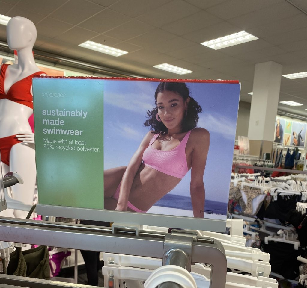 sustainable swim wear in target