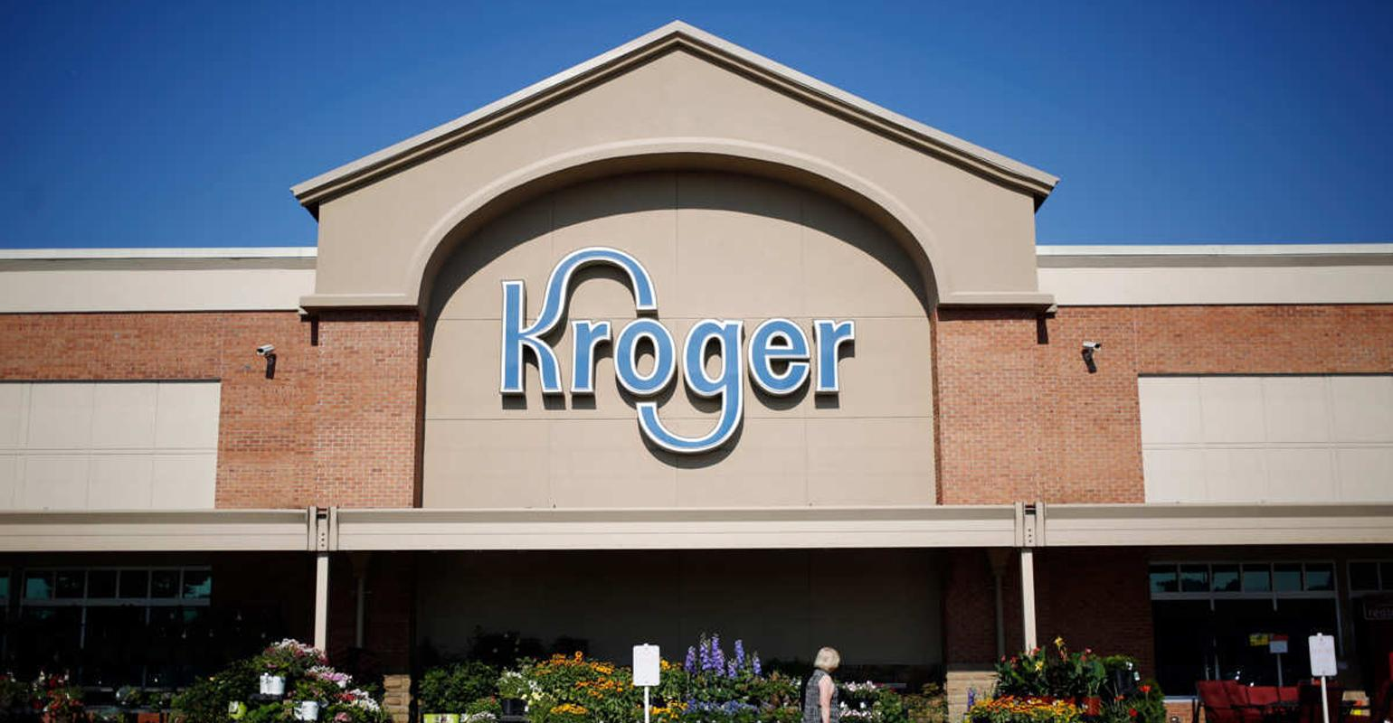 Front of the Kroger store