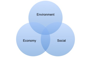 Image of environment, economy and social sectors.