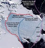 photo of Larsen B ice shelf 2002