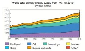 World Primary Energy Supply graphic