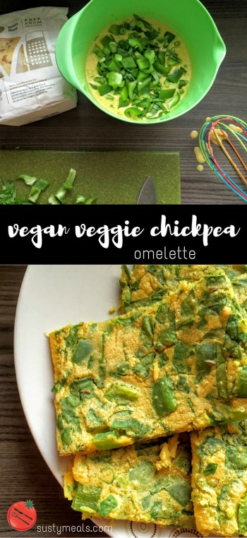 Vegan Veggie Chickpea Omelette | Vegan recipes | Breakfast | Sarah Irving | Susty Meals | Manchester Food Blogger