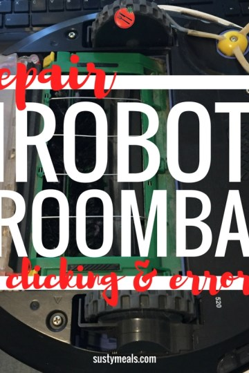 How to Fix Roomba with Error 2 and Clicking | Susty Meals | Repair Not Replace | Sarah Irving | Eco Blogger | Manchester Blogger