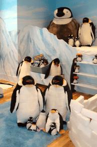 habitación de pingüinos