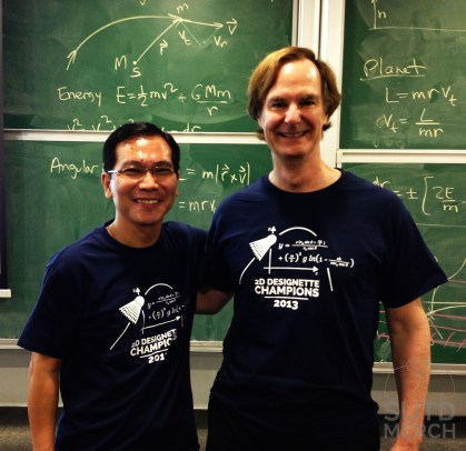 SUTD Associate Provost Prof. Pey Kin Leong and MIT Associate Provost Edmund Bertschinger.