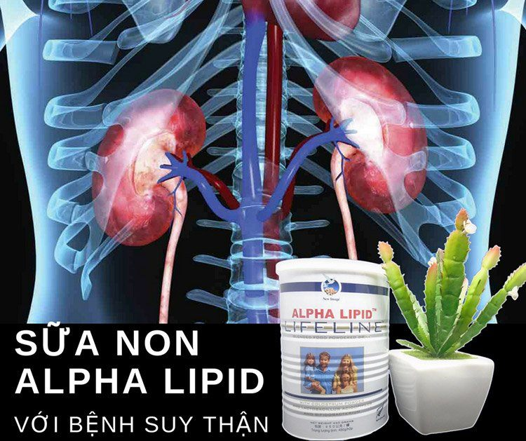 Sữa non Alpha Lipid với bệnh suy thận