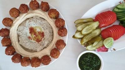 ภาพท็อปวิว อาหารอิสราเอล