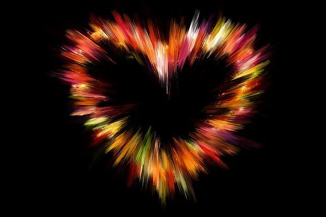 a blurred kaleidoscopic heart image to demonstrate loving kindness