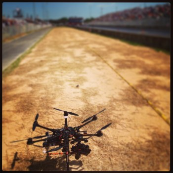 Aerial Cinematography Hexacopter at ADRL Race in Rockingham, NC