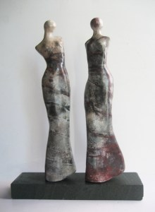 women, smoke fired ceramic