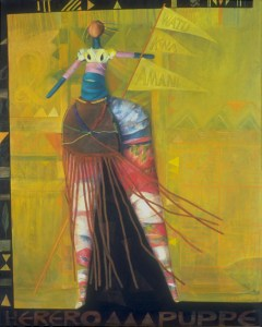 African Doll, oil painting