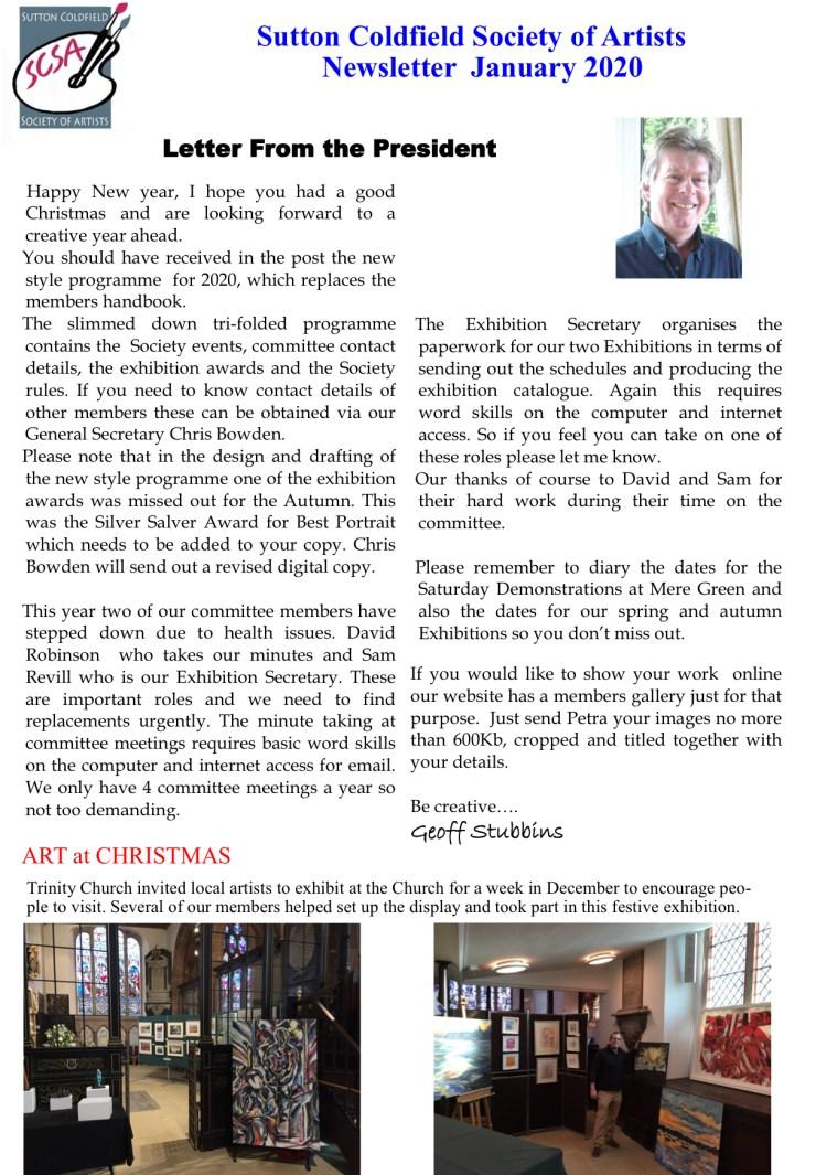 SCSA Newsletter Jan 2020