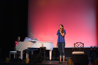 Rehearsal - Sutton Foster with Seth Rudetsky (July 2015, Provincetown, MA) - Photo by Jeanne BL