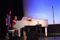 Rehearsal -Sutton Foster with Seth Rudetsky (July 2015, Provincetown, MA) - Photo by Jeanne BL
