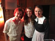 Christian Borle, Lauren Graham and Sutton Foster on the set of Gilmore girls A Year in the Life