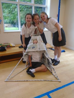 Our completed structure!