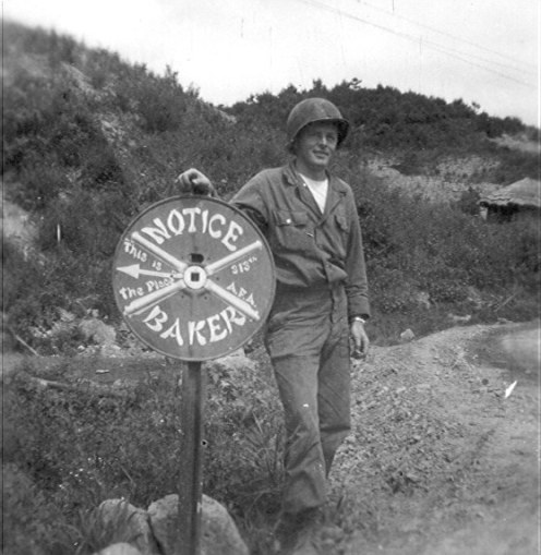 Baker Battery Sign