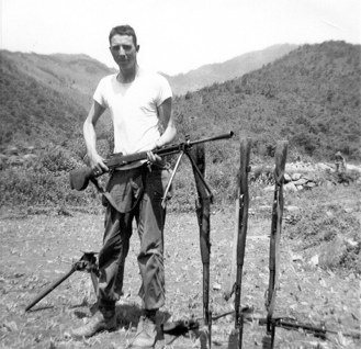 Captured Chinese weapons