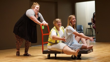 Miranda, Heather and Madi perform A Whole New World at the Derby Girl Pageant. Photo By Mitchell Quartz.