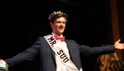 Winner of Mr. SUU, Andrew Finlinson. Photo by Mitchell Quartz.