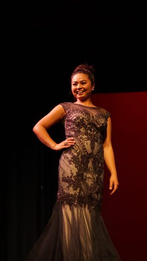 Caitlin Lucero during pageant wear.