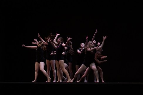 Orchesis Modern Dance Company performs a Jazz dance.