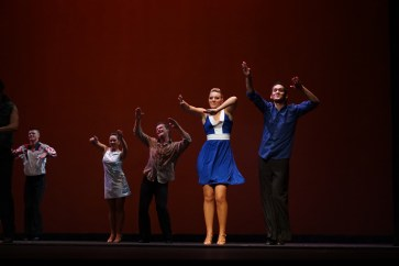 """SUU's touring team performing the Hustle during at """"A Night of Dance."""" Choreographed by Mark Lowe."""