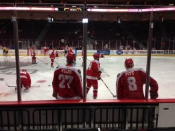 Team practice before a Wranglers game. Courtesy of David Weldon.