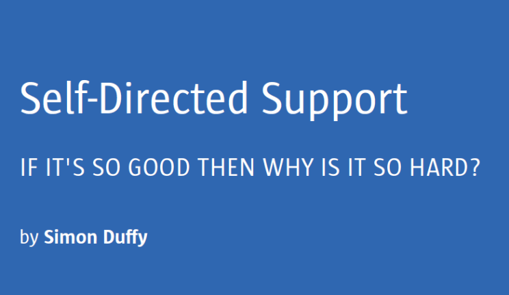 Self-Directed Support -kansikuva