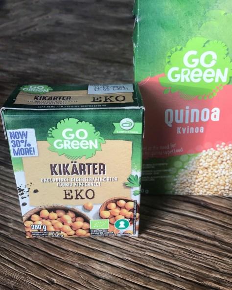 Kikherneitä ja kvinoaa