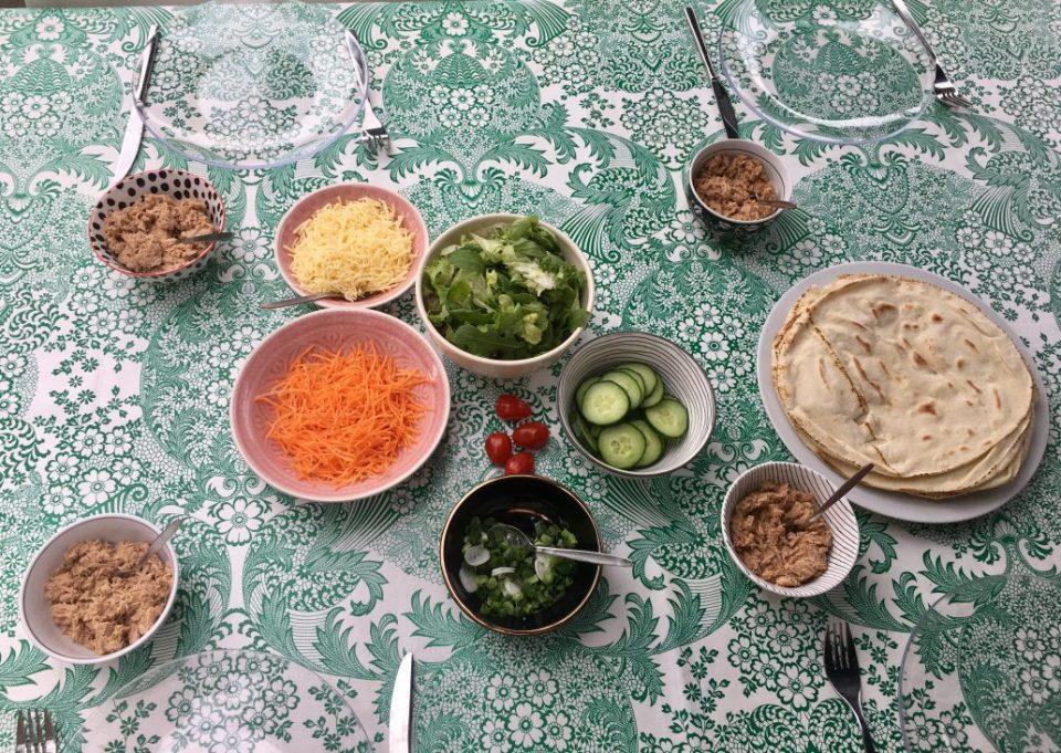 Libanese wraps met zelfgemaakte tonijnsalade.