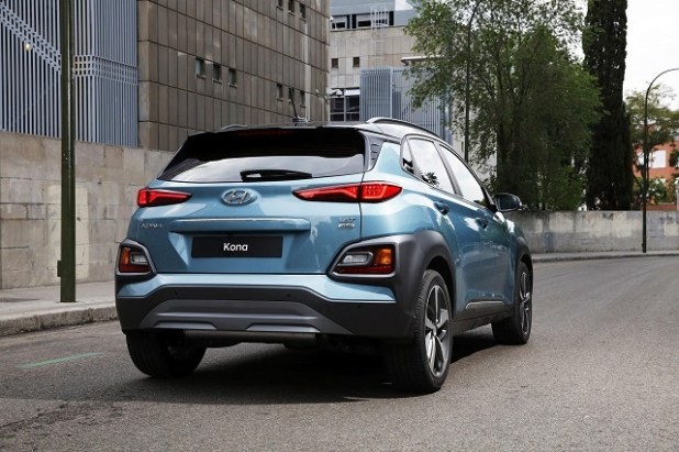 2018 Hyundai Kona rear view