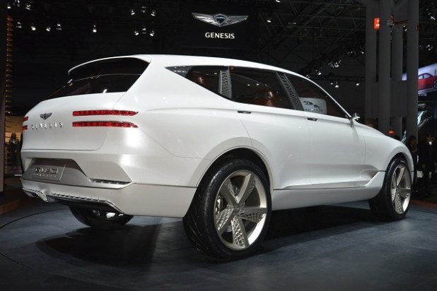 2019 Genesis GV80 SUV rear view