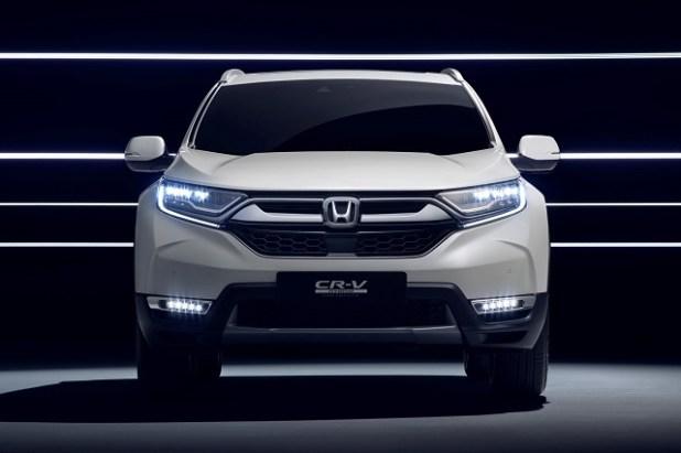 2019 honda cr-v hybrid front view