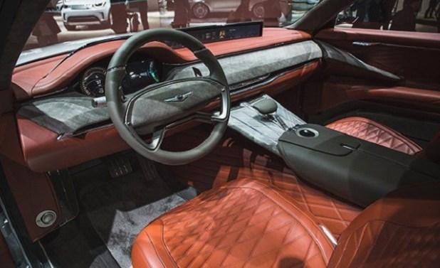 2020 Genesis GV80 SUV interior