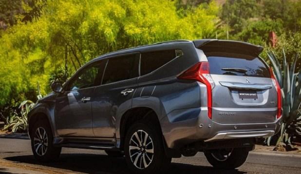 2019 Mitsubishi Montero rear view