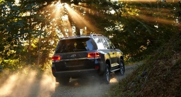 2020 Toyota Land Cruiser rear view